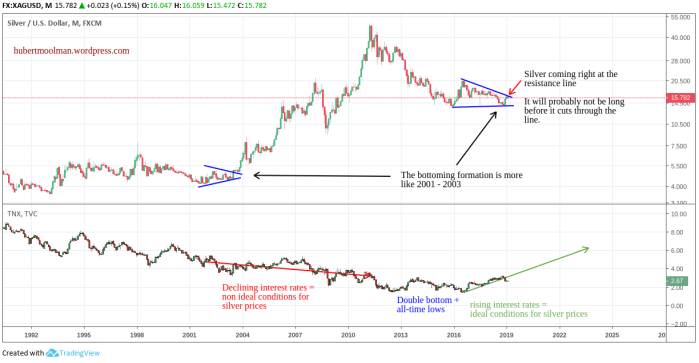 SILVER US DOLLAR 2019 LONG TERM CHART 1980